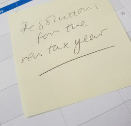 new tax year resolutions