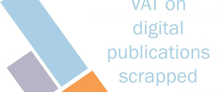 VAT on digital publications scrapped early