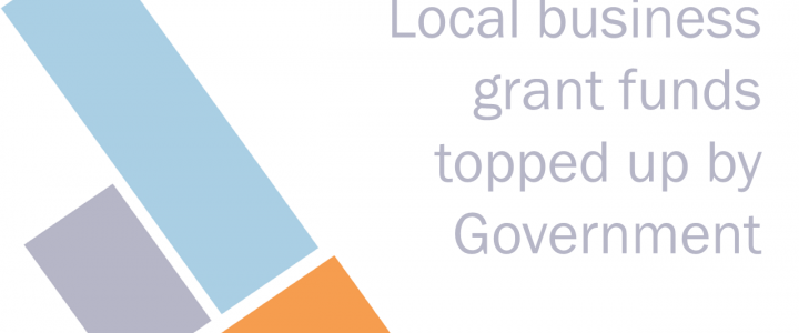 Local business grant funds topped up by Government