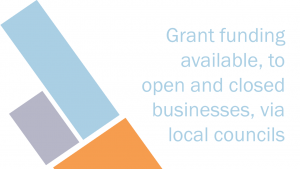 Local grant funding for open and closed businesses
