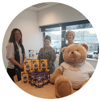 eggs-citing donation to Home-Start Herts